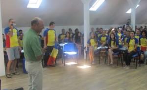 Traian Băsescu în vizită la tabăra Sulina