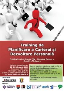 Training de Planificare a Carierei şi Dezvoltare Personală