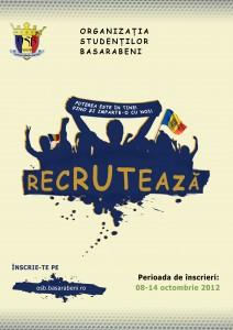 Organizația Studenților Basarabeni din Timişoara a început recrutarea!!!