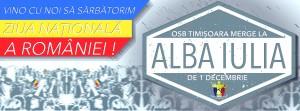 OSB Timișoara merge la Alba Iulia de 1 decembrie