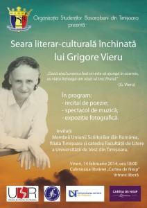 Seara literar-culturală închinată lui Grigore Vieru