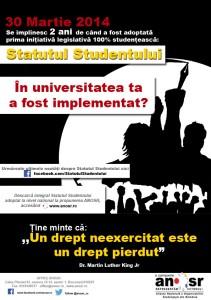 2 ani de la adoptarea Statutului Studentului la nivel național